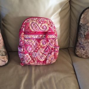 Vera Bradley medium size pink & red backpack